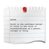 Recorte de papel texto FAITH poster
