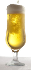 beer on glass