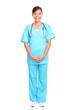 Asian nurse standing