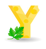 The alphabet from cheese. Sketchy letter Y poster