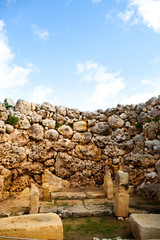 Ggantija temple remains in Gozo