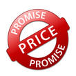 PRICE PROMISE Marketing Stamp (best value specials offers red)