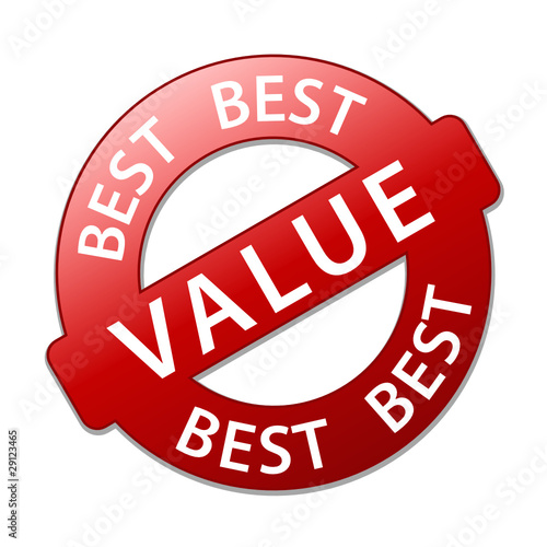BEST VALUE Marketing Stamp (price specials deals offers tag red)