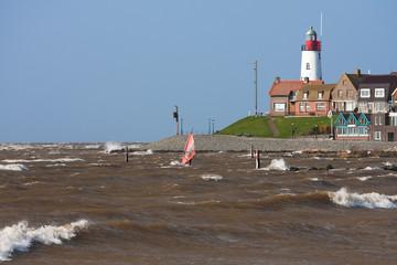 Sailboarding near the Dutch coast