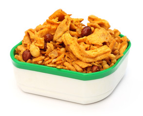 Chanachur or Bombay mix of Indian subcontinent