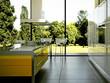 Küche Rendering 3d weiss orange