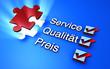 Service Qualität Preis