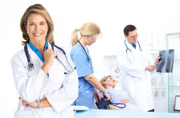 doctors and woman patient