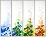 Set of four season banners
