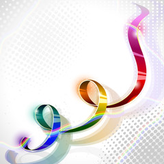spectral iridescent ribbon on abstract background
