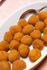 Italian appetizer: fried olive ascolana