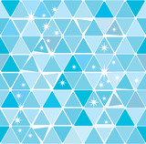 Bright blue winter triangle pattern