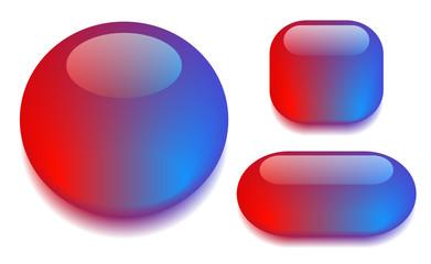 Color glass button set