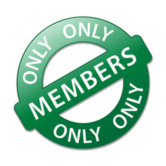 """ Members Only "" Stamp (label register online subscribe)"