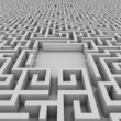empty space in the maze for placing your object of choice