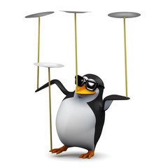 Penguins balancing act