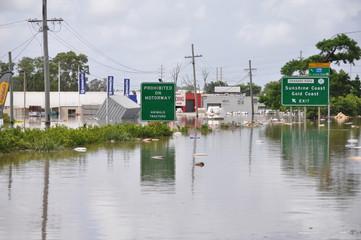 flooded motorway