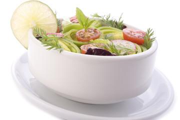 Bowl of spring salad