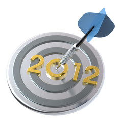 Dart hitting target - New Year 2012.