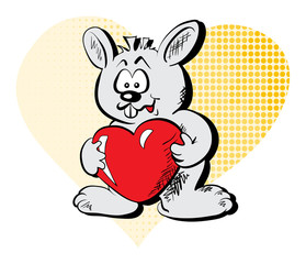Rabbit with the heart