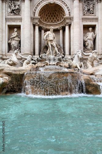 Leinwanddruck Bild Fontana di Trevi, Rome