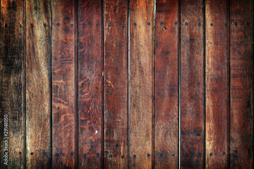 Grungy timber wall with nails