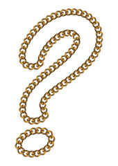 Like Golden Chain Isolated Alphabet Question Mark