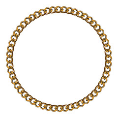 Like Golden Chain Isolated Alphabet Circular Frame