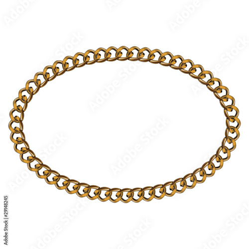 Like Golden Chain Isolated Alphabet Elliptical Frame