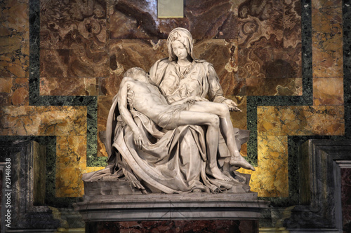 Pieta by Michelangelo, beautiful sculpture in Vatican