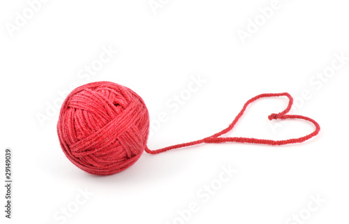 Thread ball with heart