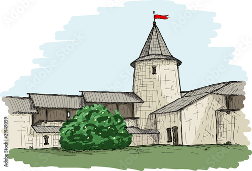 Pskov Kremlin (colored)