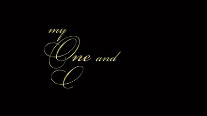 wedding message - my one and only