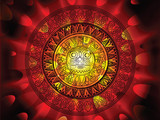 Fototapety Maya calendar on a end of days background