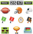 Vector American football / gridiron icon set. Part 1