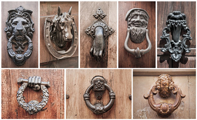 Doorknocker Collage.