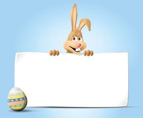 bunny behind banner with egg jpeg