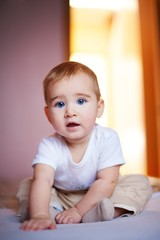Portrait of an adorable baby