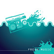 Designed music background with stylization.