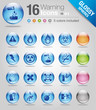 Glossy spheres - warning icons 01