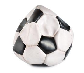Deflated soccer ball