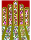 religious stained glass window faith church poster