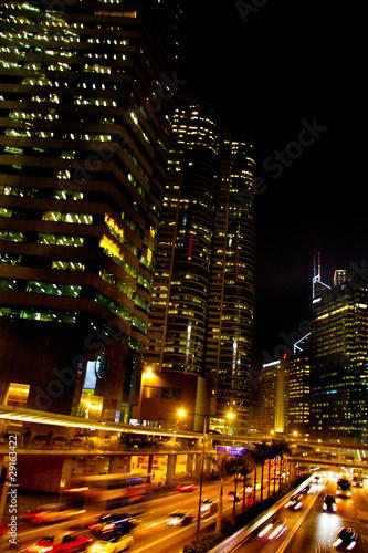 Fototapeta hong kong city at night