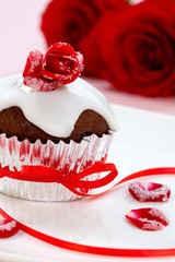 Rose Topped Muffin