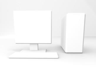 Computer white on white