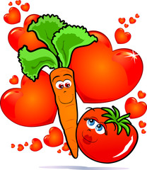 Vegetables in love