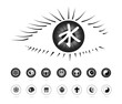 Religion symbols in the eye(Eye series)