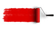 Red roller brush with trail of paint - 29171898