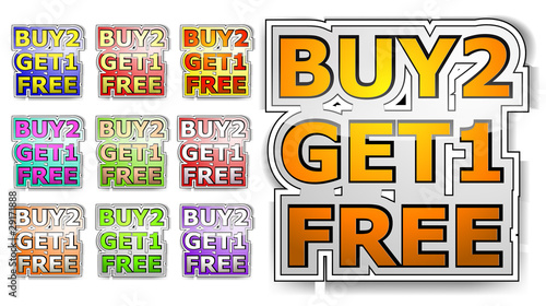 buy two get one free sign