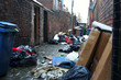 Dirty back street alley